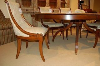 Hickory White Furniture Innovations Newport Cherry Round Dining Table Chair Set