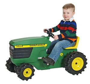 Childrens Power Pedal Quad Wheels Kids Toy Ride on John Deere Tractor Scooter