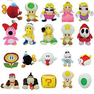 Hot Super Mario Plush Figure Toy Doll Large Collection Gift for Kids