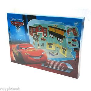 Disney Pixar RARE Make Your Own Wooden Cars Street Scene Kids Activity Fun Toy