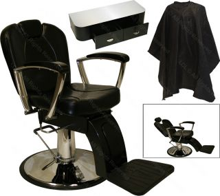 Hydraulic Reclining Barber Chair Styling Station Tattoo Beauty Salon Equipment