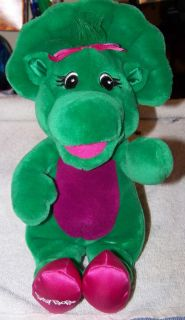"Baby Bop Musical Singing Plush Stuffed Animal Barney 11"" Tall Toy PBS Kids Green"