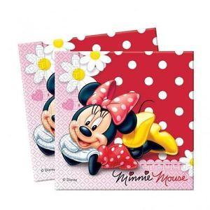 Minnie Mouse Red Polka Dot Party Lunch Napkins x 20