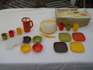 Vintage Tupperware Toys Child Dishes Party Cake Carrier Bowls Cups Tumblers Kids