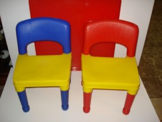 Tot Tutors Building Table Cover 2 Chairs Use with Lego Duplo Mega Bloks