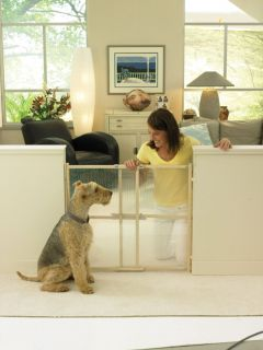 North States Clear Choice Wood Baby Child Safety Pet Gate 4611X