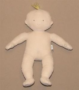 "13"" Pottery Barn Kids 2006 Cloth Hannah Doll Naked Blonde Plush Stuffed Toy 729"