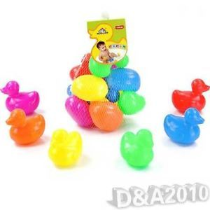 Colorful Lovely Toy Multi Rubber Duck Duckies Baby Kid Bath Shower Toy 10 in Bag