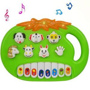 Children Baby Kid Educational Fruit Musical Piano Lighting Animal Sound Toy A693