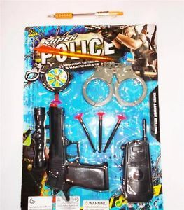 Lot of 1 Set Toy for Kids New Gun Shackle Police Cheap Toys Set  1x