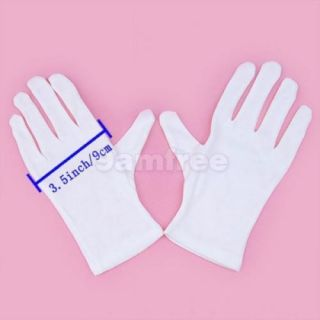 2 Pairs White Santa Magic Tricks Clown Short Gloves New