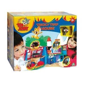 Kids Tom and Jerry Tricky Trap House Play Set Toy New Inc Cat Mouse Figures