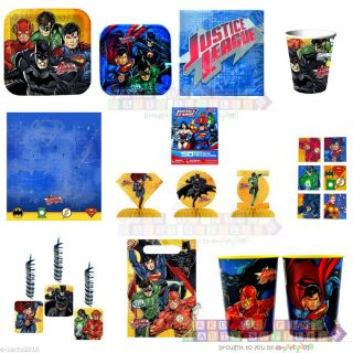 New Justice League Birthday Party Supplies Superman Batman Flash Green Lantern