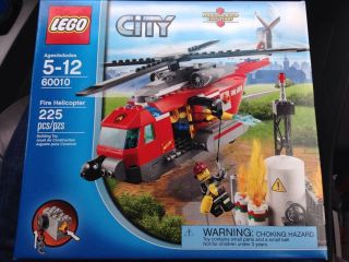 Lego City Fire Helicopter Legos Kids Block Toys Adventure Building Firefighters