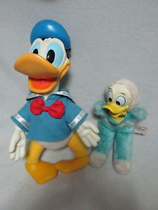 2 Old Walt Disney Donald Duck Plush Toys Stuffed Animals Children Kids Christmas