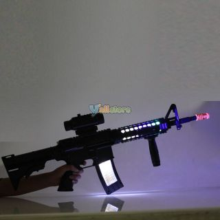 Great for Kids Boy Toy Children's Electronic Music Gun Submachine Toy Black