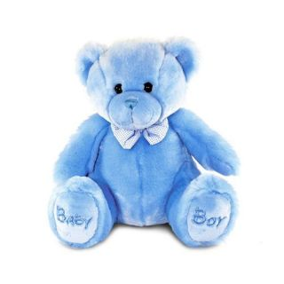 Keel Toys 38cm Sitting Blue Childs Kids Baby Boy My First Teddy Bear Bow Tie