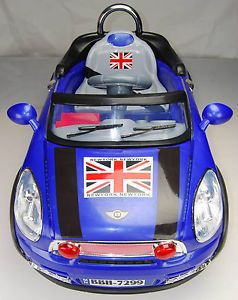 Kids Mini Style Ride on Car Electric 6V Battery Parents Remote Toy BBH7299 Blue