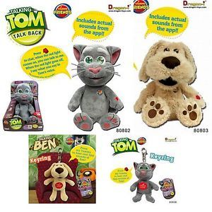 Talking Tom Ben 28cm inch Large Animated Soft Plush Kids Club Toy Gifts Gadgets