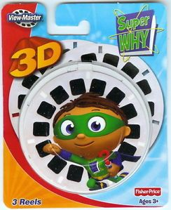 New PBS Kids Super Why 3D View Master Reels 3pk