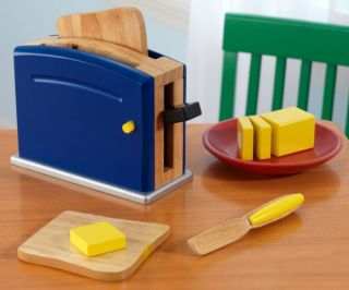 KidKraft Primary Toaster Kids Pretend Play Set w Accessories 63309