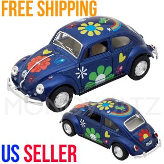 Classic VW Volkswagen Beetle 1 32 Die Cast Pull Back Car Toy for Kids Gift Blue