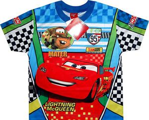 Disney Cars Lightning McQueen Childrens Kids Boys Clothes T Shirt Top Tee Toys