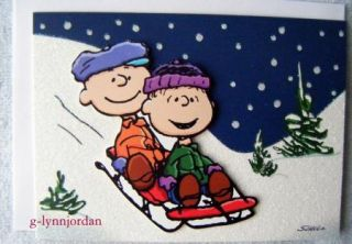 Snoopy Peanuts 3 D Christmas Card Schroeder Plays Piano Woodstock Dance