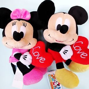 1× Baby Kids Children Soft Stuffed Plush Disney Mickey Minnie Mouse Doll Toy 0