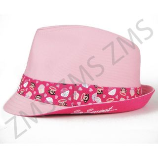 Paul Frank Julius Monkey Pink Cupcake Fedora Hat for Cowboy Party Girls Kids