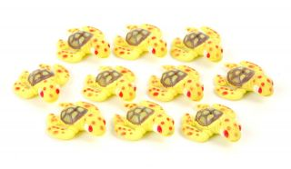 Plastic Sea Turtle 10 Lot Miniature Zoo Animals Toy Fun Craft Set Kids Gift New