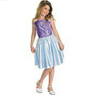 Ariel Mermaid Princess Blue Purple Girls Kids Dress Cartoon Characters Sz 4 6X