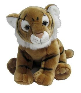 "Tiger Gold Large Soft Plush Toy Stuffed Animal 14"" 36cm Long Korimco New"