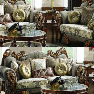 Formal Sofa Love Seat Chair Tables Complete 6 Piece Living Room Set HD 275 New