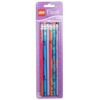 New Lego Friends Pencils 6 PK Wooden NO2 Party Favors Supplies School SEALED NIP