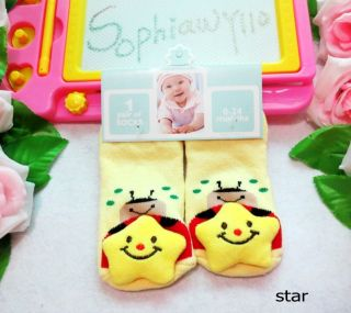 Infant Baby Kid Toddler Child Soft Rattle Toy Socks Foot Finders 0 24 Months