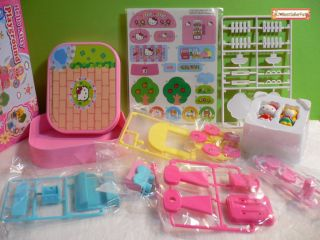 Choice♥sanrio Hello Kitty Mini Town Playground Kids Model Set Figure Toy Sticker