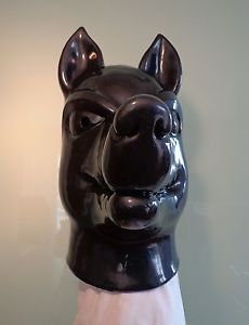 New Black Dog Studio Heavy Rubber Latex Mask RARE Gum