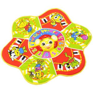 Musical Flower Baby Play Mat Baby Developmental Crawl Mat Kids Toys