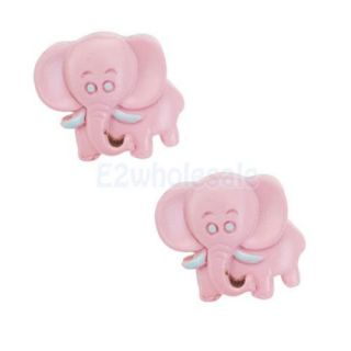 10x 2pcs Pink Elephant Shape Knob for Kid Child Cabinet Drawer Furniture Handle