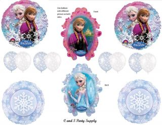 Disney's Frozen Happy Birthday Party Balloons Decorations Supplies Princess Olaf