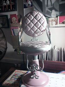 "American Girl Battat Pink and Silver Beauty Salon Chair for 18"" Dolls"