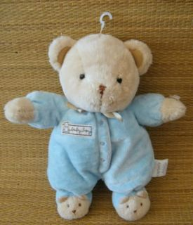 New Carters Baby Boy Bear Plush Rattle Lovey Blue Outfit w Bear Slippers