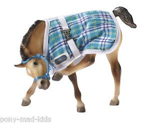 Breyer Traditional Model Toy Horse Accessory Blue Foal Blanket Halter Set