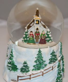 Kurt Adler Christmas Carolers Snow Motion Musical 100mm Waterglobe H0661CH