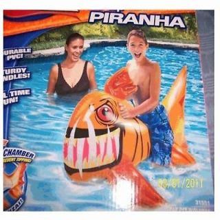 Banzai No Tip Piranha Pool Float Water Ride Kids Fur Water Toy New Fast Shipping