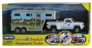 BNIB Breyer Stablemates Scale Model 1 32 Toy Truck Horse Box Trailer 5350