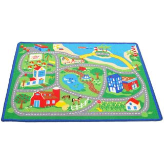 Childrens Educational Learning Carpet Farm Town Kids Village Road Play Rug Mat