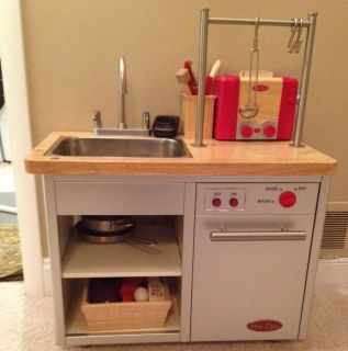 Pottery Barn Kids Retro Play Kitchen Sink Dishwasher with Accessories