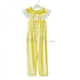 Girl Kids Summer One Piece Jumpsuit Playsuit Lace Collar Soft Clothes 2 6 Years